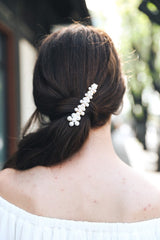 Flower Power Pearl Alligator Clip