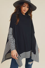 Fall Nights Oversized Cape Sweater