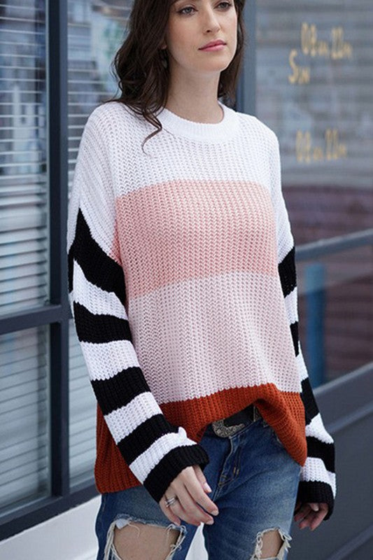 Story Sweater Pink Multi