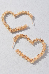 Rockefeller Gold Hearts Earrings