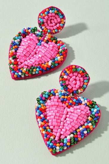 Hearts on Fire Beaded Earrings