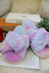 Tie Dye Furry Slippers