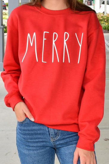 Merry Sweatshirt Red