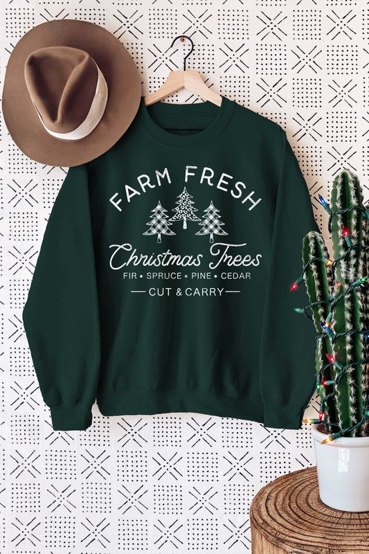 Farm Fresh Sweatshirt Hunter Green