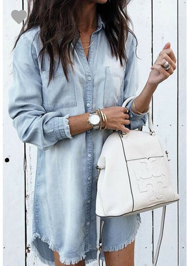 Sundaze Chambray Denim Dress