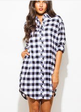 Fall Days Flannel Dress