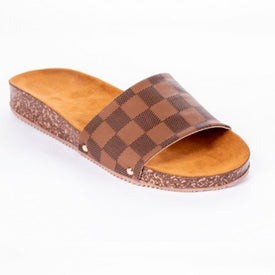Oh Louie Slide Sandals Brown