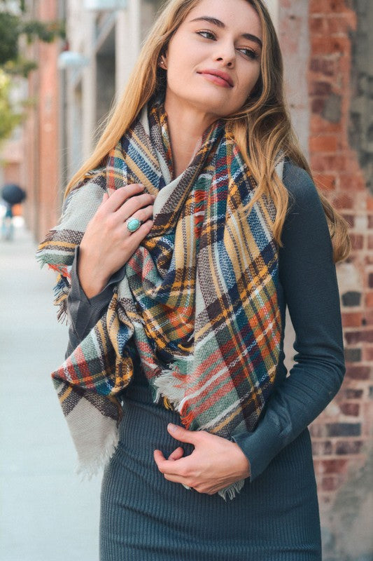 Fall Leaves Classic Blanket Scarf