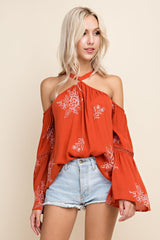 Wild Dreams Cold Shoulder Top