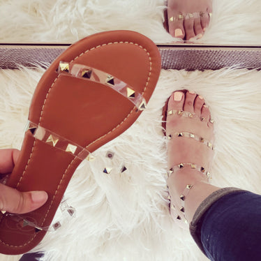 The Lulu Sandal Clear