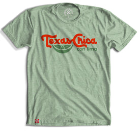 Texas Chica Con Lima Tee Mint Green