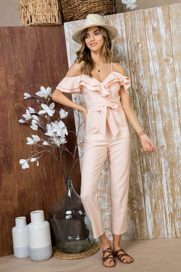 Park Avenue Jumpsuit Blush