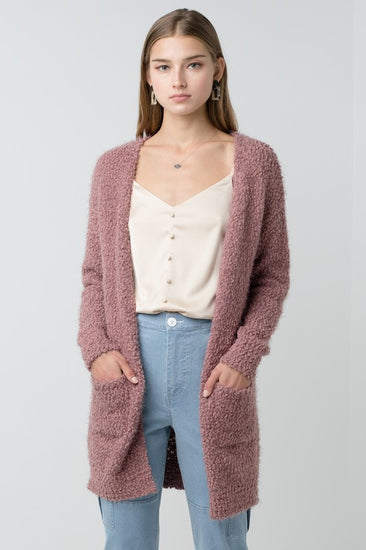 Doll In The Fall Cardigan Mauve
