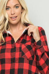 Cozy Weekend Buffalo Check Flannel Red Black