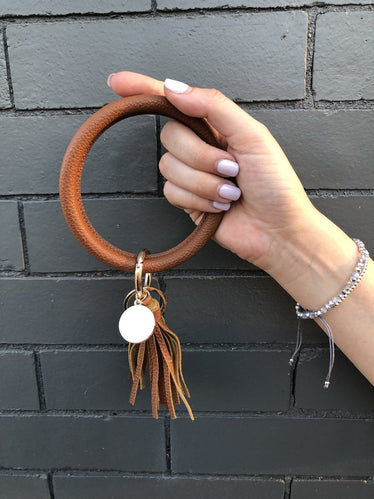 Brown Tan Bracelet Keychain