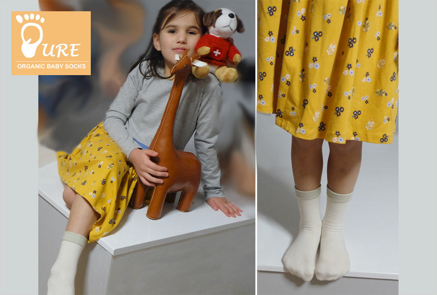 Pure Organic Baby and Child Socks Style 06