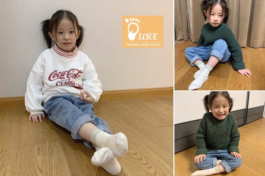 Pure Organic Baby and Child Socks Style 02