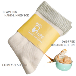 PURE 2 Pairs of Seamless Organic Cotton Child Socks