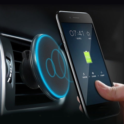Wireless Car Charger Magnetic Air Vent Mount Holder Stand Dock For Qi-enabled Smart Phones