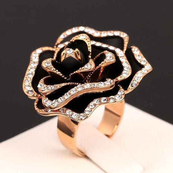 Black Beauty Rose Ring