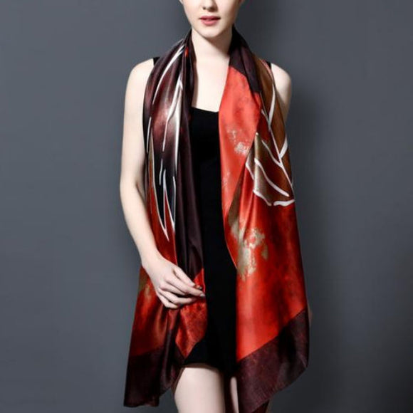 The Big Leaf - Silk Scarf - Assorted Colors