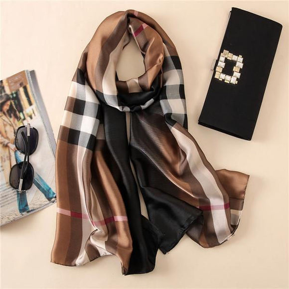 Classic Plaid Scarf - In Assorted Colors