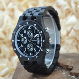 Black Luxury Sandalwood Timepiece