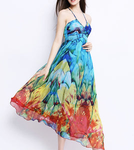 Rainbow Silk Dress