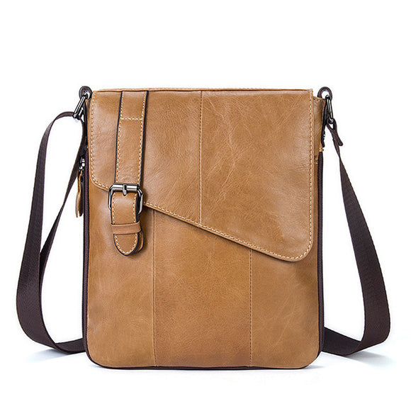 Leather Business Shoulder Bag - Various Colors