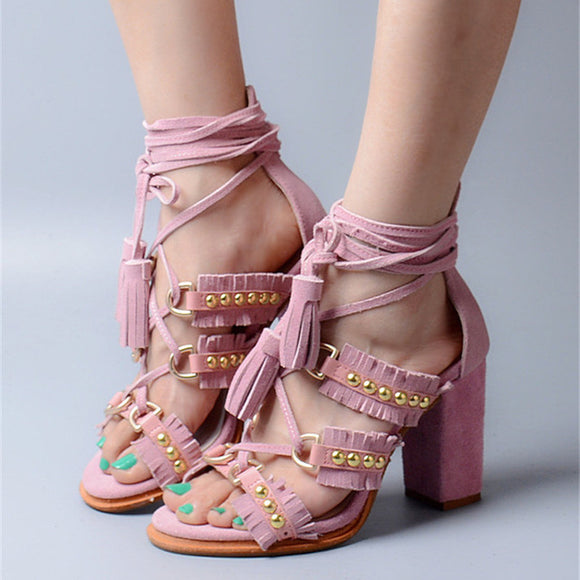 Lacci - Fringed Sandals