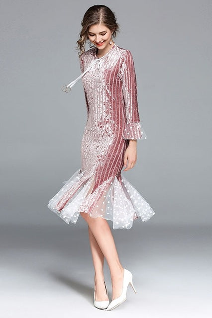 The Juliette Velvet Dress