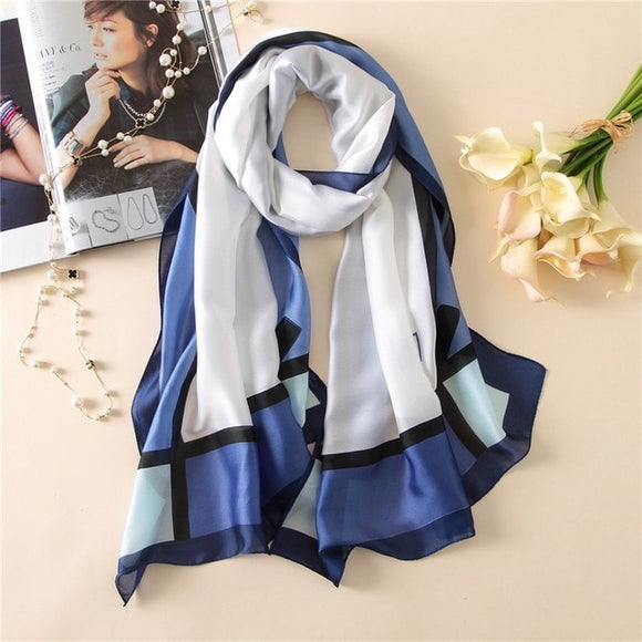 Pink or Blue - Silk Scarf