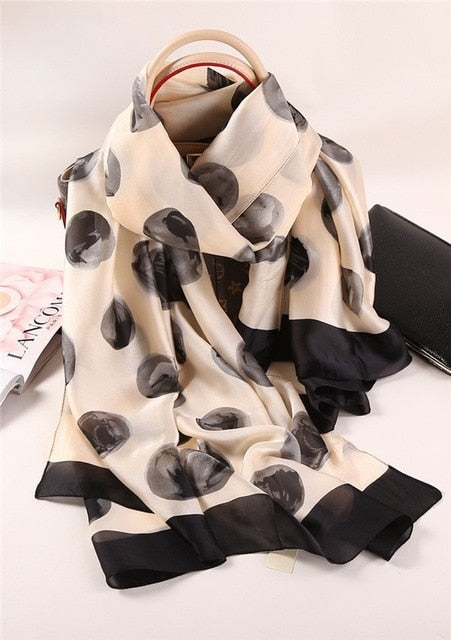 Spotted Beauty - Silk Scarf
