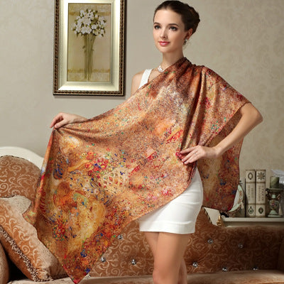 Old World Silk Scarf