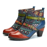 Belted Patterns -Leather Ankle Boots