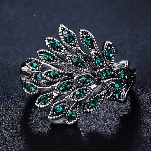 Peacock Fan Ring
