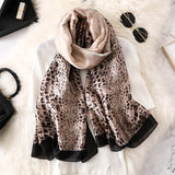Gradient Animal Print Scarf