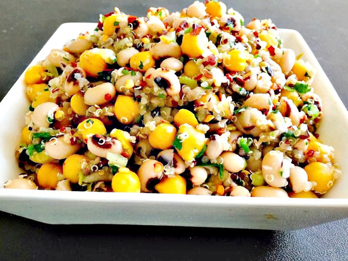 Tri Color Bean & Quinoa Salad