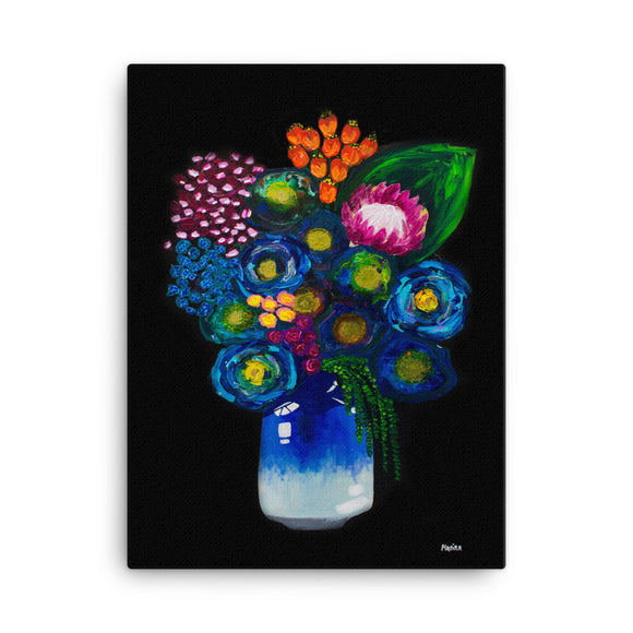 Twilight Bouquet Print on Canvas