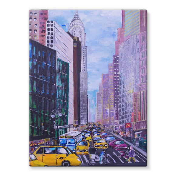 MEGA-CITY Print on Canvas