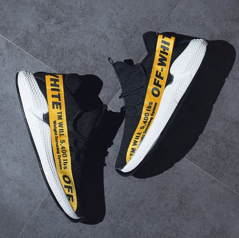 Off White™TM WILL 5400 Breathable Sneakers Yellow