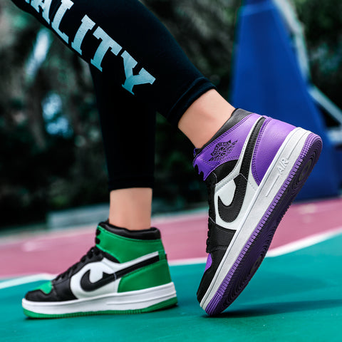 Nike Air Jordan 1 Green And Purple
