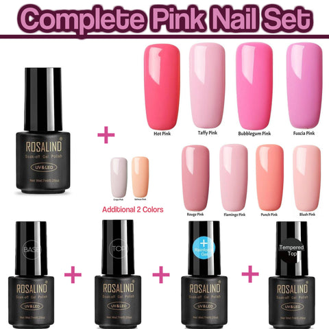 Complete Pink Nail Set