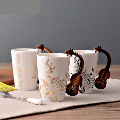 Novelty Instrument Ceramic Cup