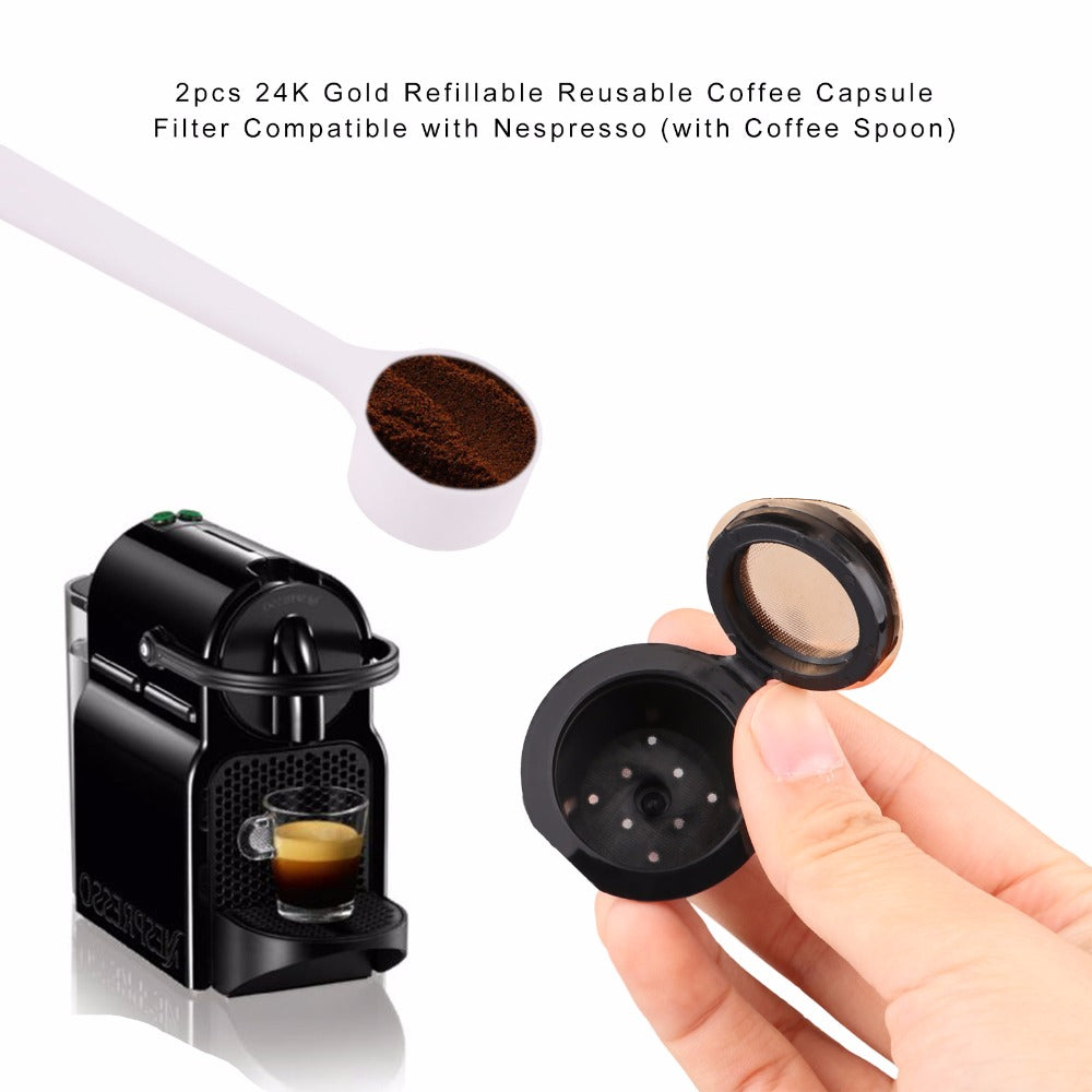 Gold Nespresso Refillable Capsule - Kangaroo Buddy