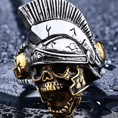 Skull Fighter Steel Ring