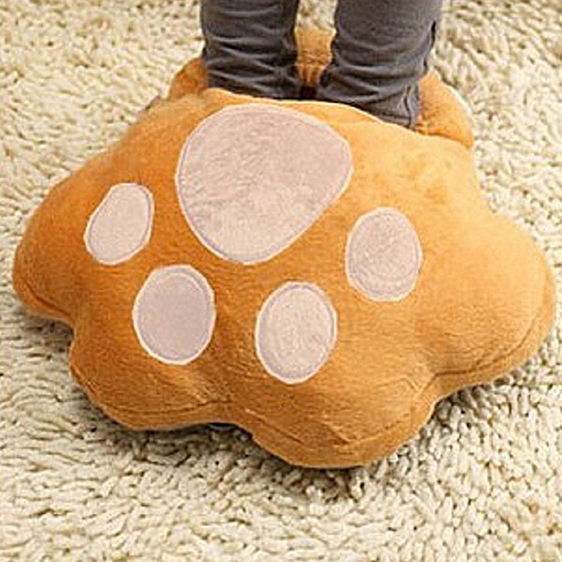 Big Electric Cat Print Foot Warmers - Kangaroo Buddy