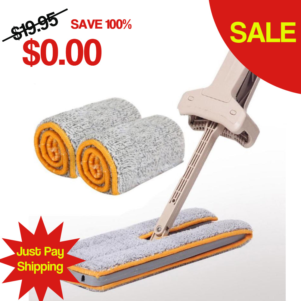 FREE Self-wringing double sided flat mop - Kangaroo Buddy