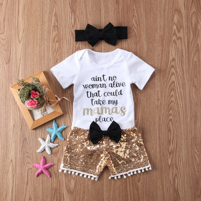 A'int No Woman Alive That Could Take My Mamas Place Baby Jumpsuit Set