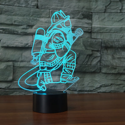 3D Fireman LED Table Lamp